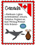 Northern Lights Reading and Writing Prompt with Rubric and Graphic Organizer