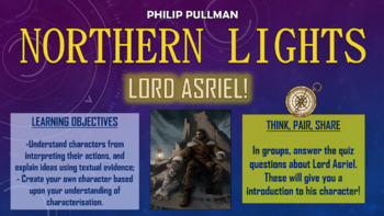 Northern Lights (The Golden Compass) - Lord Asriel!