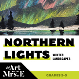 Northern Lights Winter Landscapes | Art Lesson