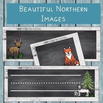 Northern Name Plates & Locker Tags - Chalkboard & Birch Bark!