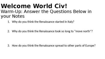 Northern Renaissance Lesson