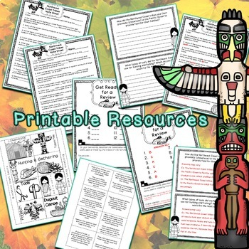 Northwest Coast PowerPoint Lesson and Printables