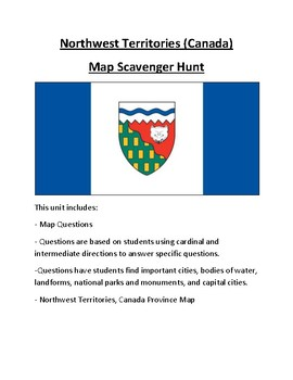 Northwest Territories Map Scavenger Hunt