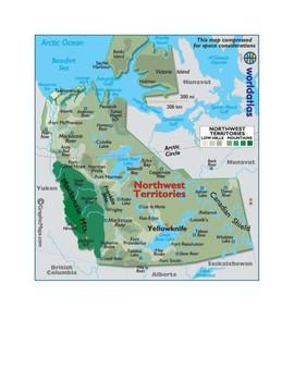 Northwest Territories Canada Map.Northwest Territories Canada Map Scavenger Hunt By Mr Matthews