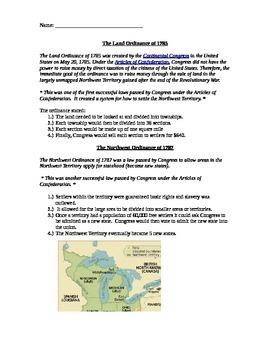 Northwest Territory Handout