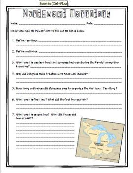 Northwest Territory PowerPoint & Notes Sheet