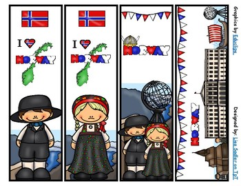 Norway Bookmarks -  4 Designs