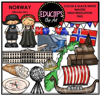Norway Clip Art Bundle {Educlips Clipart}