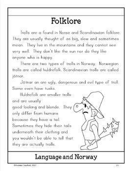 Norway Copywork, Activities, and Country Booklet