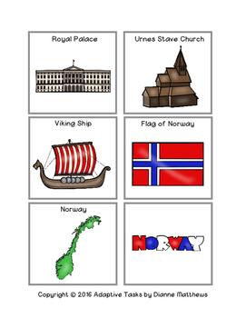 Norway File Folder Matching