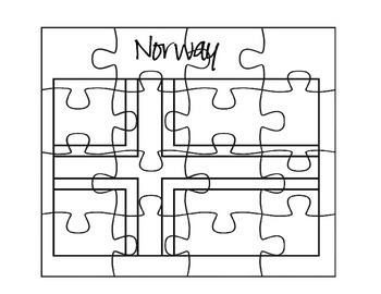 Norway Flag Puzzle Set