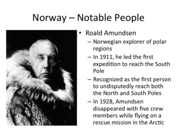 Norway PowerPoint - Geography, History, Culture, Economy, Government, and More