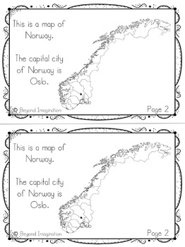 Norway Country Study   48 Pages for Differentiated Learning + Bonus Pages