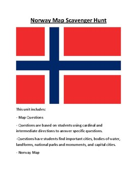 Norway Map Scavenger Hunt