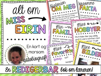 Norwegian All about me Back to school Book (bm & nn)