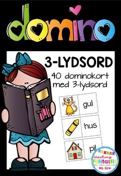 3 Domino-spill; første lyd, 3-lydsord og 4-lydsord (BM & NN)