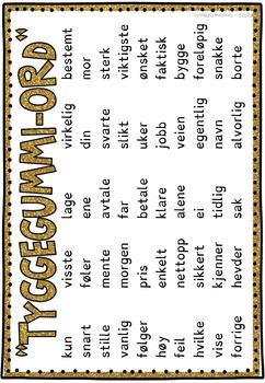 Høyfrekvente ord - Slå klokka; Sett #10 (BM & NN)