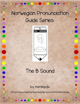 Norwegian Pronunciation Guide Series:  The B Sound