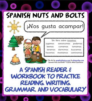 Nos gusta acampar: A Spanish verb workbook/reader