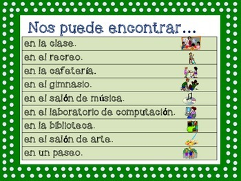 Nos puede encontrar.../ You can find us... (Spanish Version)