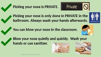 Nose Picking; Social Skills; Blowing your Nose; Expected Behaviors