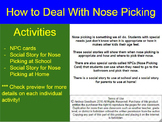 Nose Picking Social Story, Autism, Special Needs, Teaching