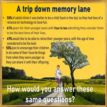Nostalgia – are you a nostalgic person? ESL adult PPT conversation lesson