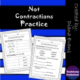 Not Contractions Practice