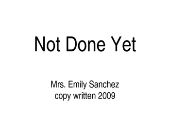 Not Done Yet: An American History Poem