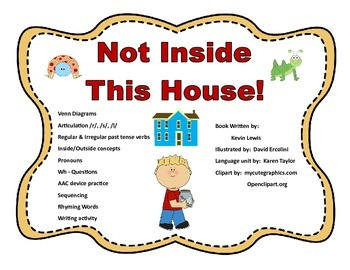 "Speech Language Book Compaion for ""Not Inside This House,""  Narrative Unit, AAC"