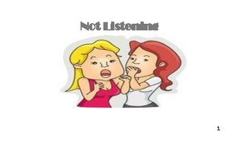 Not Listening - Social Story