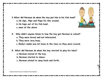 Not Norman - 2nd Grade Reading Quiz + Activities Bundled