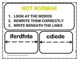 Not Norman - 2nd Grade Reading Quiz + Activities Bundled