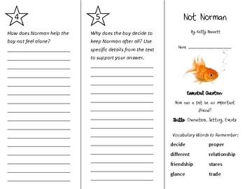 Not Norman Trifold - Wonders 2nd Grade Unit 1 Week 3