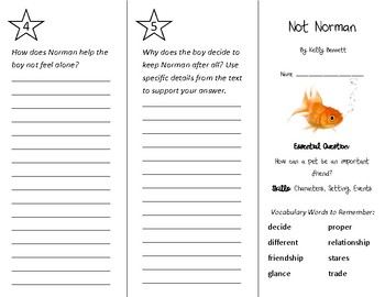Not Norman Trifold - Wonders 2nd Grade Unit 1 Week 3