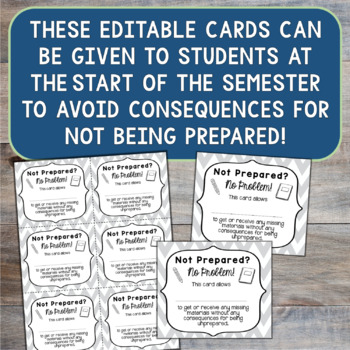 Not Prepared Tickets for Middle School Students
