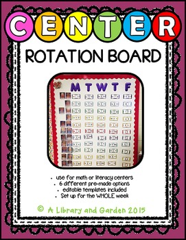 Not-So-Crazy Center Rotation Board (Printable and Editable)