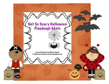 Not So Scary Halloween Playdough Mats