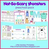 Not-So-Scary Monsters Preschool Pack