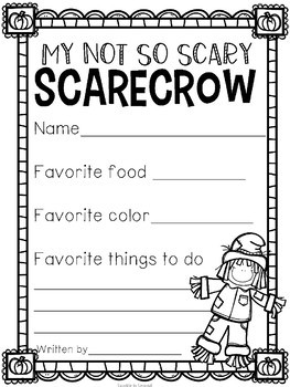 Not So Scary Scarecrow Craft Activity