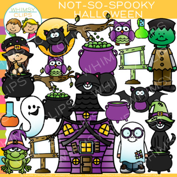 Not-So-Spooky Halloween Clip Art by Whimsy Clips | TpT