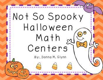 Not So Spooky Halloween Math Centers