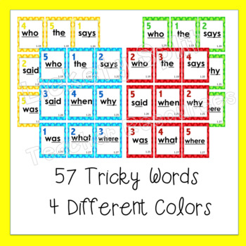 Not So Tricky! Literacy Center Word Card Game - Like Uno - Great w/ CKLA