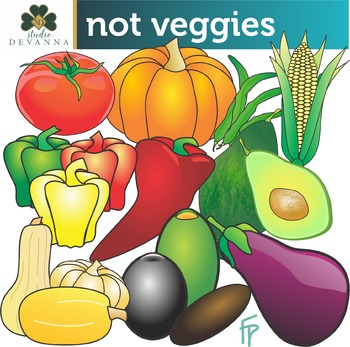 Not So Veggies Clip Art