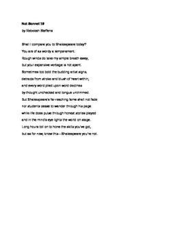 Not Sonnet 18: a parody of Shakespeare's sonnet