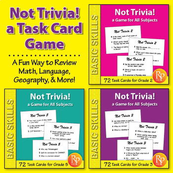 Not Trivia! Task Card Game for All Subjects {Bundle}