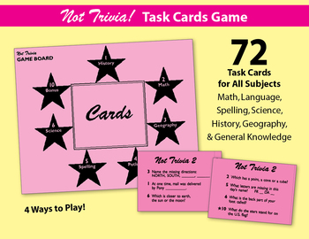 Not Trivia! Task Card Game for All Subjects - Grade 2