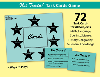 Not Trivia! Task Card Game for All Subjects - Grade 5