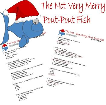 Not Very Merry Pout-Pout Fish Christmas Comprehension Multiple Choice Question