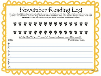 Not Your Average Monthly Reading Logs!
